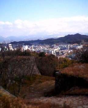 米子城址よりの景色(鳥取県米子市)