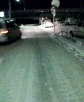 夜路は凍結
