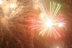 灘分祭りの花火