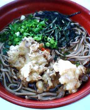 舞茸天ぷら蕎麦